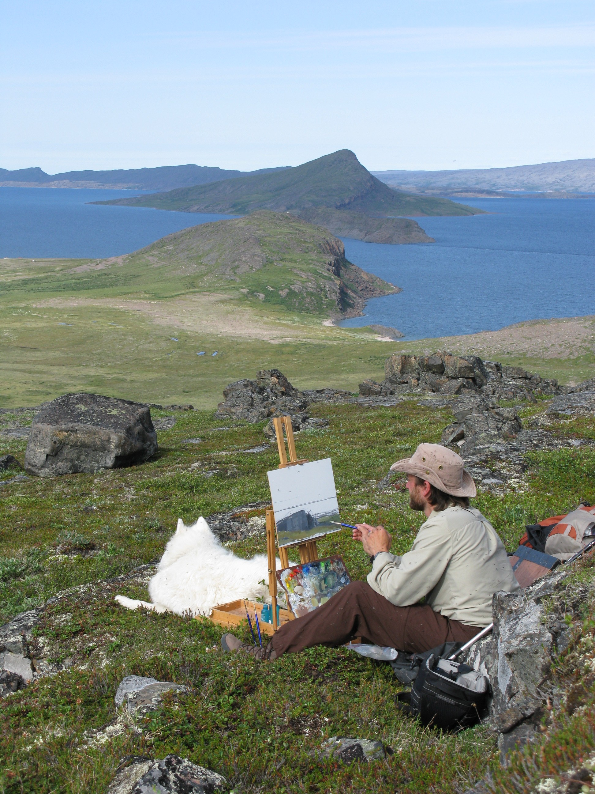 person painting on Bathurst Ridge