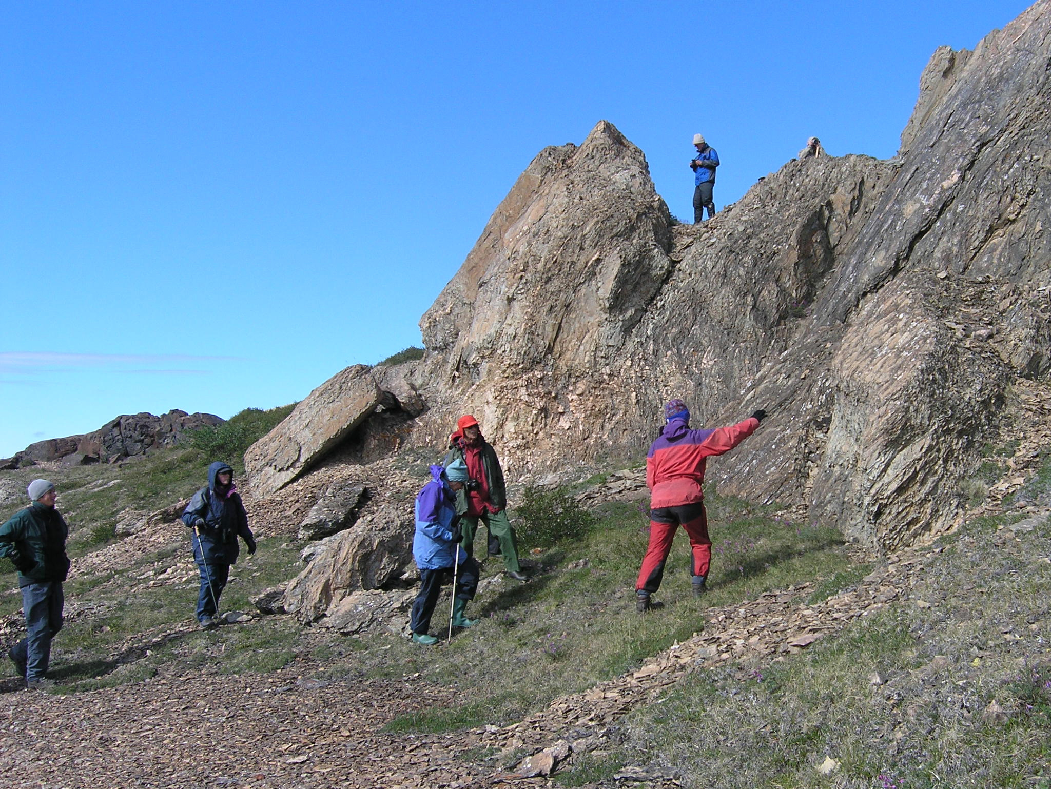 Hikers at Tinney Cove