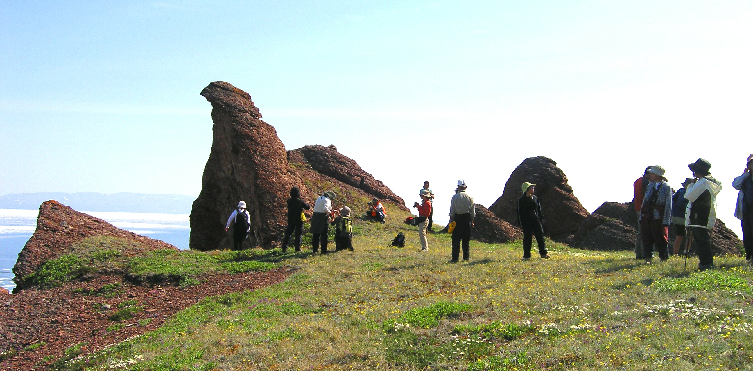 Group at Sandstone heads